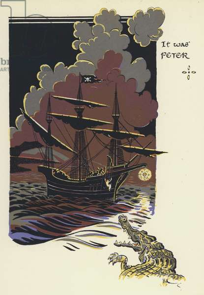 Peter Pan and Wendy: It was Peter (colour litho)