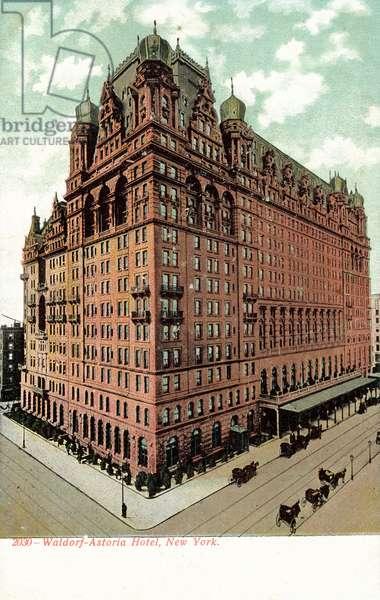 Waldorf-Astoria Hotel, New York, USA (colour photo)