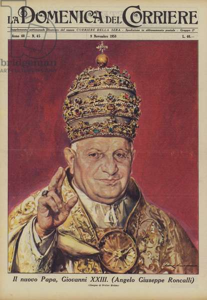 Il nuovo Papa, Giovanni XXIII (colour litho)