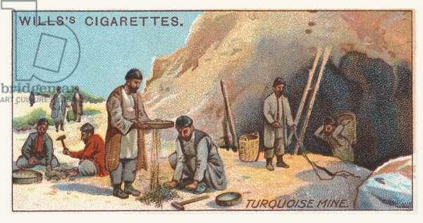 Turquoise mine (chromolitho)