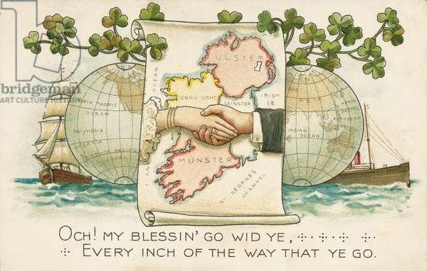 Irish Unity (colour litho)