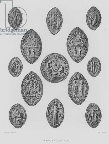 Franciscan monastic seals (litho)
