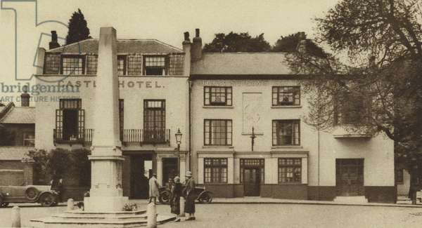 Jack Straw's Castle, a Hampstead tavern (b/w photo)