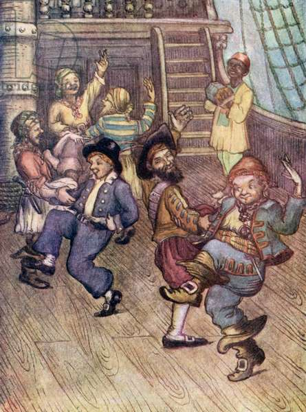 Yo-Ho, Pirates Singing (colour litho)