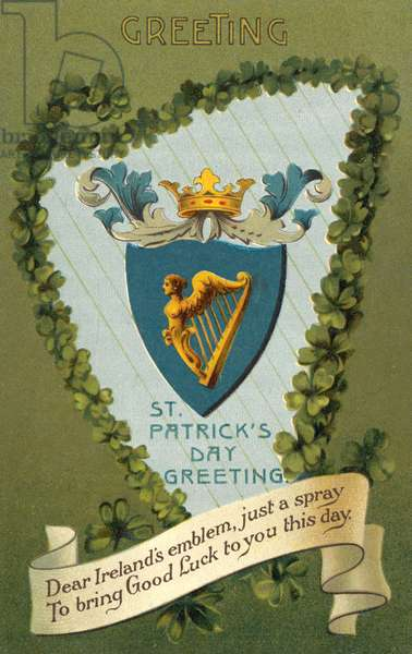 St Patrick's day greeting (colour litho)