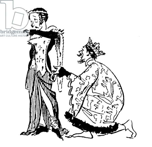 King Edward III and the Garter (lithograph)