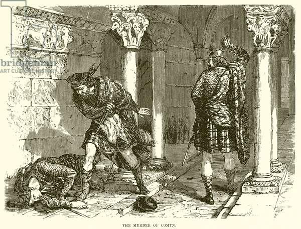 The Murder of Comyn (engraving)