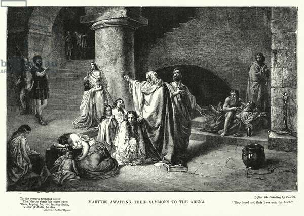 Martyrs awaiting their Summons to the Arena (engraving)