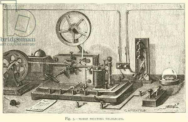 Morse Printing Telegraph (engraving)