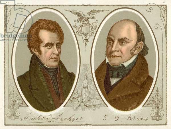 Andrew Jackson, John Quincy Adams (chromolitho)