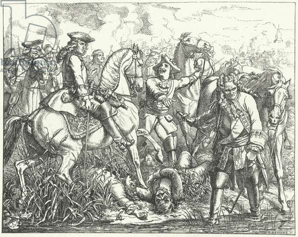 Capture of Marshal Tallard at the Battle of Blenheim, 1704 (engraving)