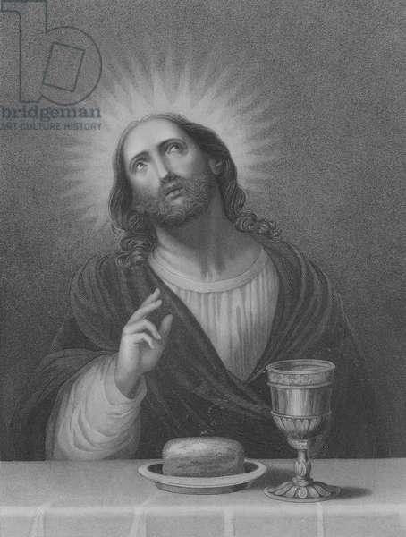 The Redeemer, St Matthew 26, Verse 27-30 (engraving)