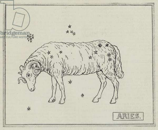 Signs of the zodiac: Aries (engraving)