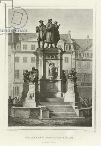 Gutenberg Schoffer and Fust, Frankfort (engraving)