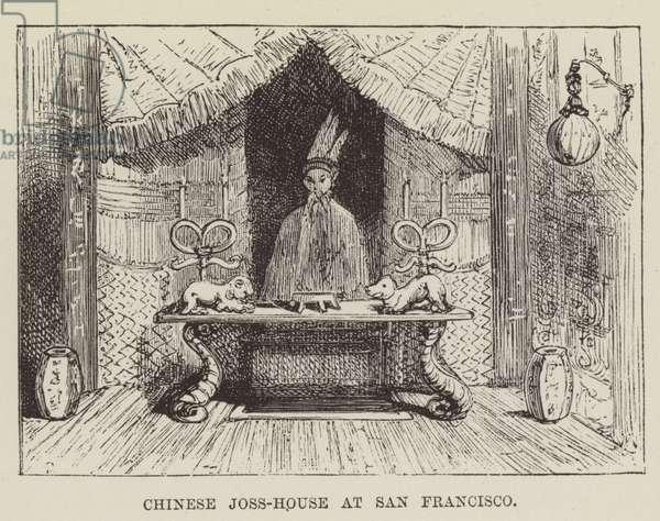 Chinese Joss-House at San Francisco (engraving)