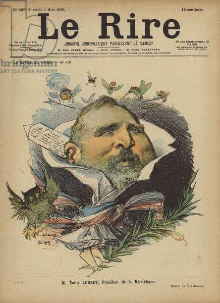 Emile Loubet, Illustration for Le Rire (colour litho)