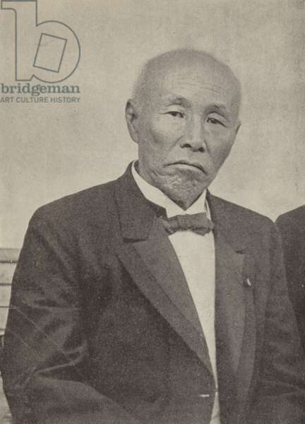 Okuma Shigenobu, Prime Minister of Japan at the outbreak of the First World War (b/w photo)