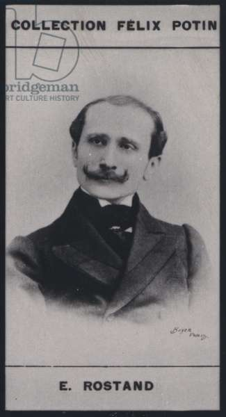 Edmond Rostand (1868) (b/w photo)