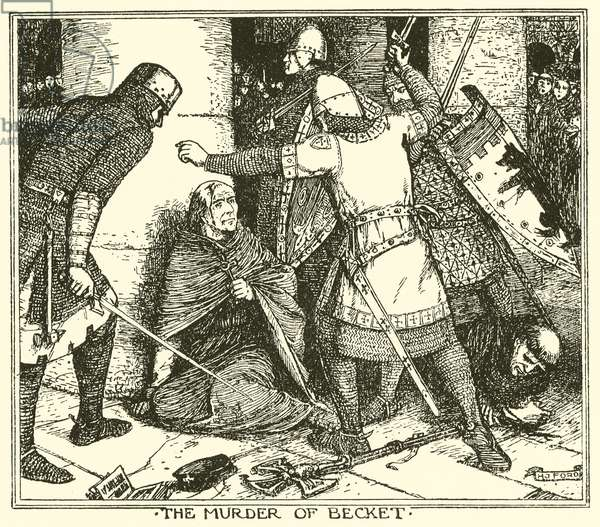 The Murder of Becket (engraving)