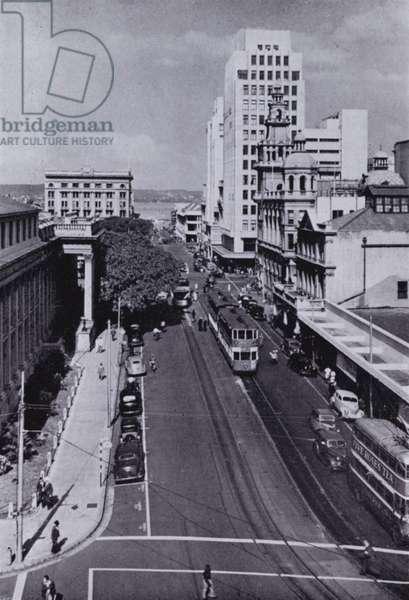 Gardiner Street with GPO, Front Left (b/w photo)