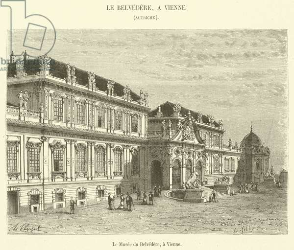 Le Musee du Belvedere, a Vienne (engraving)