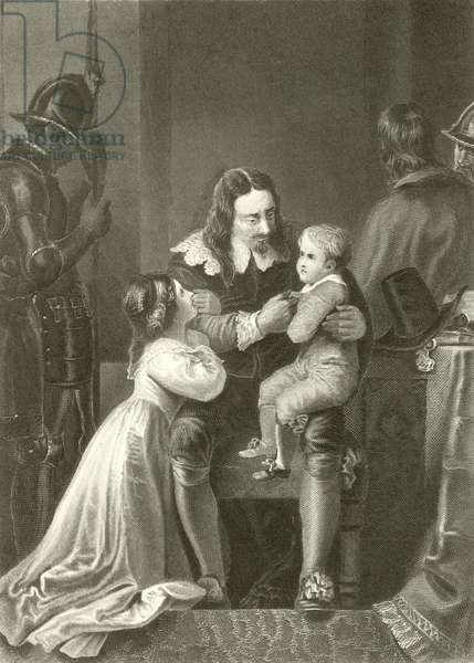 Charles I, taking leave of his children (engraving)
