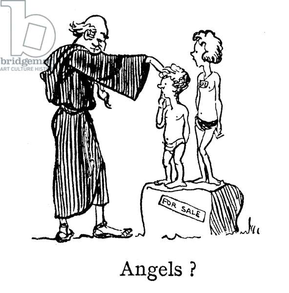 Angels, Pope Gregory, Non Angli, Sed Angeli (not Angels, but Anglicans) (lithograph)