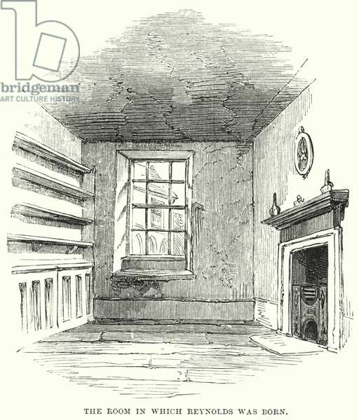 The Room in which Reynolds was born (engraving)