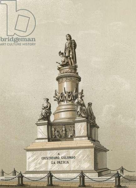 Monument to Columbus in Genoa