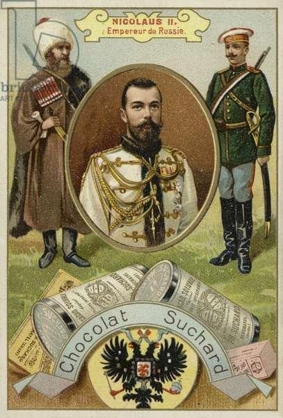 Nicholas II, Tsar of Russia (chromolitho)