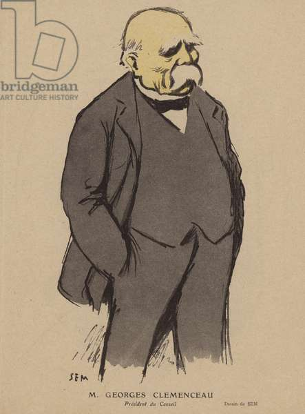 Georges Clemenceau, French politician (colour litho)