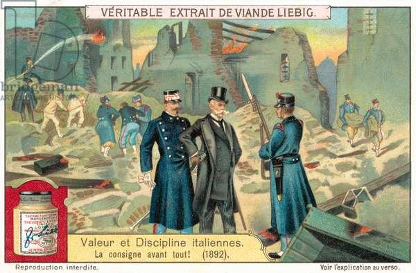 The order before everything!, 1892 (chromolitho)
