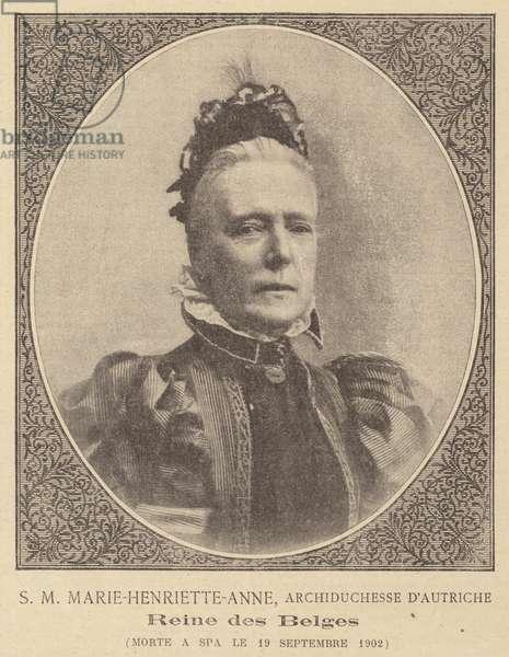 Death of Marie Henriette of Austria, Queen Consort of Leopold II, King of the Belgians (litho)