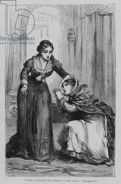 Illustration for Oliver Twist by Charles Dickens (engraving)