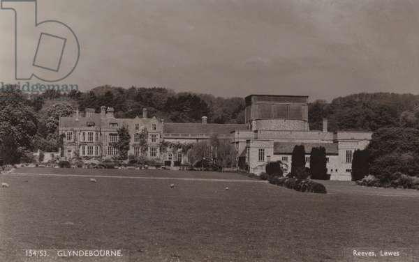 Glyndebourne, Sussex 1953 (b/w photo)