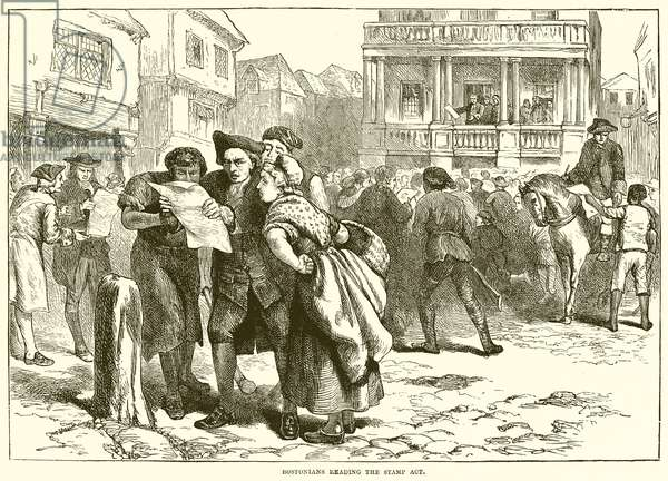 Bostonians reading the Stamp Act (engraving)