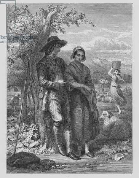 John Milton, L'Allegro (engraving)