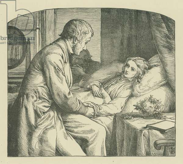 Scene from The May Queen by Alfred Lord Tennyson (engraving)