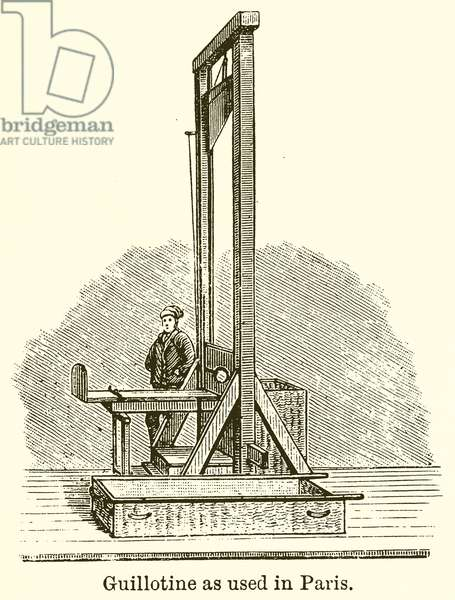 Guillotine as used in Paris (engraving)