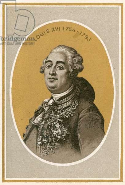 Louis XVI (colour litho)