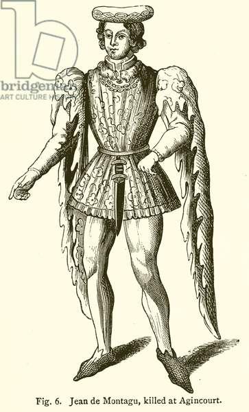 Jean de Montagu, Killed at Agincourt (engraving)