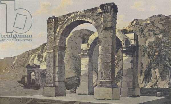 Cavaillon, Arc de triomphe romain (colour photo)