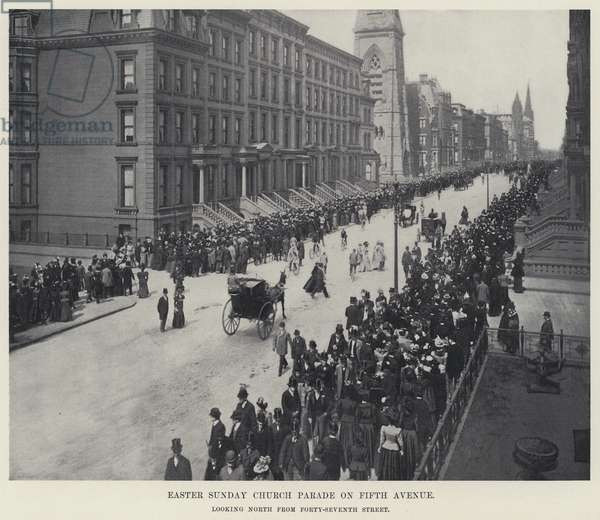Easter Sunday Church Parade on Fifth Avenue (b/w photo)