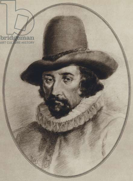 Portraits of Great Philosophers: Francis Bacon (litho)