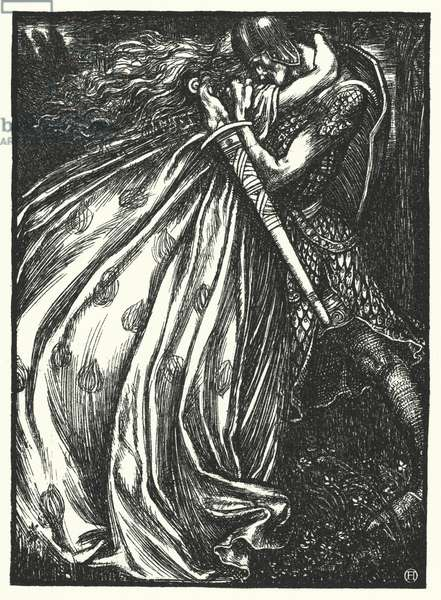 Matthew Arnold poem: Tristram and Iseult (engraving)