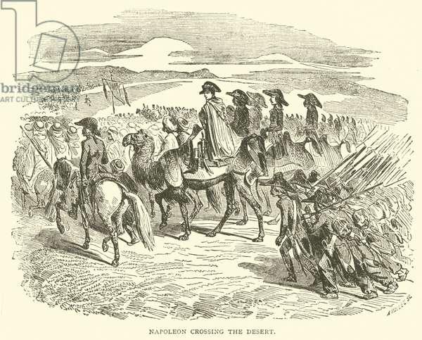 Napoleon crossing the Desert (engraving)