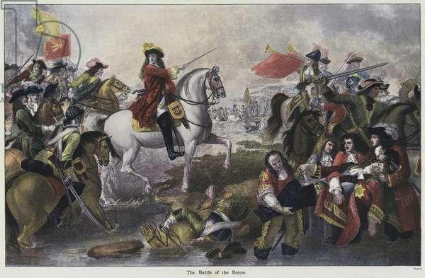 The Battle of the Boyne (colour litho)