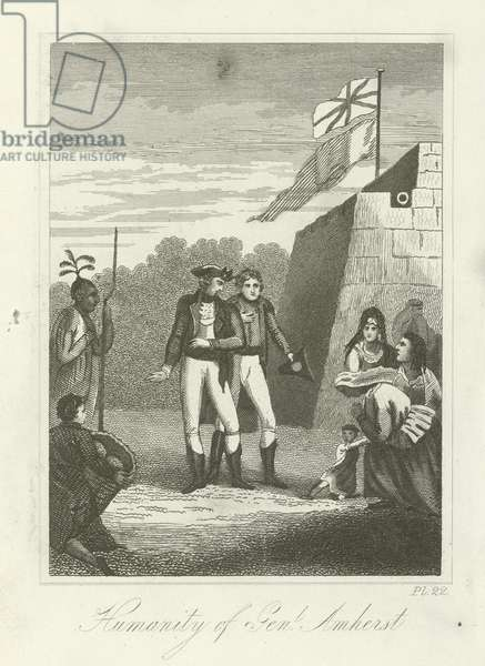 Humanity of General Amherst (engraving)