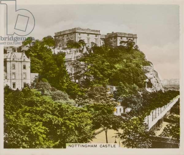 Nottingham Castle (coloured photo)