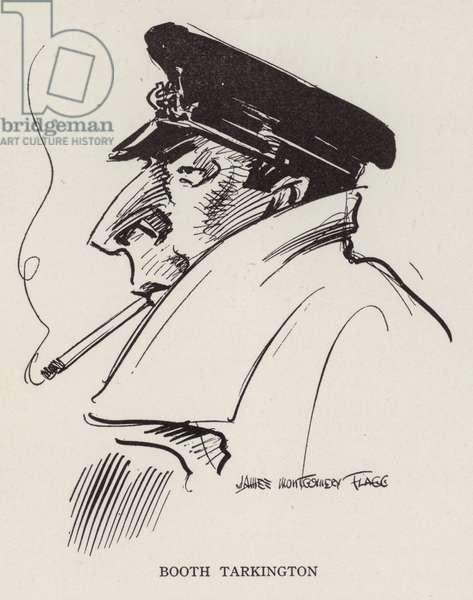 Booth Tarkington, American writer (litho)